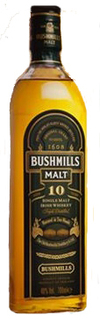 Bushmills Single Malt Irish Whiskey 10 year old