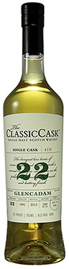 The Classic Cask Glencadam Single Malt Scotch Whiskey 22 Year Old 22 year old