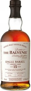 Balvenie Single Barrel Sherry Cask Single Malt Scotch Whisky 15 year old