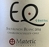 Matetic Vineyards EQ Coastal Sauvignon Blanc 2014