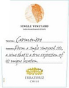 Errazuriz Single Vineyard Carmenere 2014