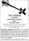 K Vintners The Hidden 2013
