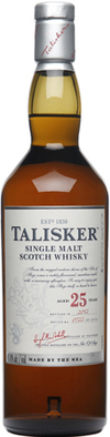 Talisker Single Malt Scotch Whisky 25 year old