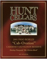 Hunt Cellars Cabovation  2000