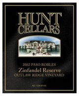 Hunt Cellars Reserve Outlaw Ridge Zinfandel 2001