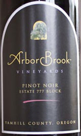 ArborBrook Estate 777 Block Pinot Noir 2006