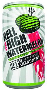 21st Amendment Brewery Hell or High Watermelon Wheat Beer