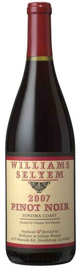 Williams Selyem Sonoma Coast Pinot Noir 2007