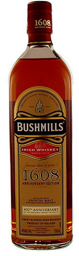 Bushmills 1608  Limited Edition Irish Whiskey 400th Anniversary