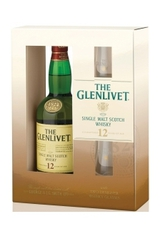 The Glenlivet Single Malt Scotch Gift Set With Two Glasses 12 year old