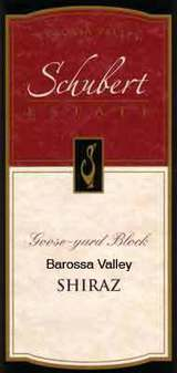 Schubert Estate Goose Yard Block Shiraz 2003