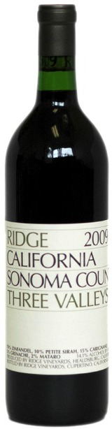 Ridge Vineyards Three Valleys 2009