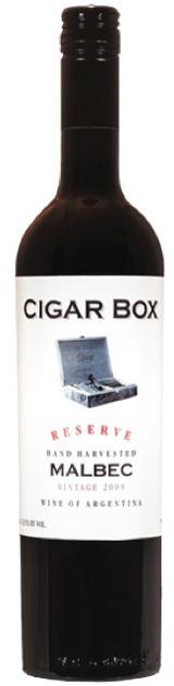 Cigar Box Malbec Argentina Red Wine 750 mL