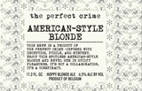 Scheldebrouwerij The Perfect Crime American Blonde
