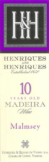 Henriques & Henriques Malmsey Madeira 10 year old