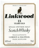 Linkwood bottled by Gordon & MacPhail Single Speyside Malt Scotch Whisky 15 year old