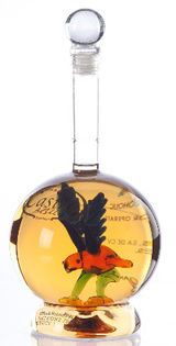 Casino Azul Reposado Tequila With Hand Blown Bird