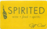 Spirited Wines Gift Card $25.00