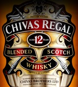 Chivas Regal Blended Scotch Whisky with Glasses 12 year old