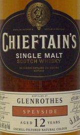 Chieftain's Speyside Single Malt Scotch Whisky 12 year old