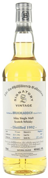Signatory Bottled by Bruichladdich Single Malt Scotch Whisky 1992