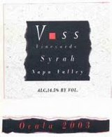 Voss Vineyards Ocala Syrah 2003