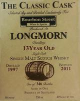 Longmorn The Classic Cask 13 year old