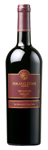 Peirano The Heritage Collection Six Clones Merlot 2011