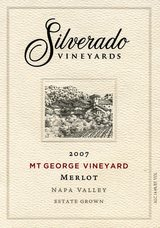 Silverado Vineyards Mt. George Vineyard Merlot 2007