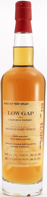 Low Gap Whiskey Bavarian Hard Wheat Whiskey 2 year old