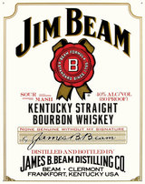Jim Beam Kentucky Straight Bourbon Whiskey 4 year old