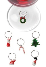 True Fabrications Holiday Favorites Glass Wine Charms