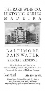 Rare Wine Company Historic Series Baltimore Rainwater