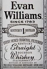 Evan Williams White Label Bottled In Bond