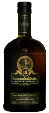 Bunnahabhain Single Islay Malt Scotch Whisky 18 year old