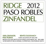 Ridge Vineyards Paso Robles Zinfandel