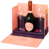 Laurent-Perrier Cuvée Rosé Brut with 2 Flutes Gift Set