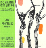 Domaine Ostertag Barriques Pinot Blanc 2012