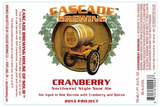 Cascade Brewing Cranberry Northwest Style Sour Ale