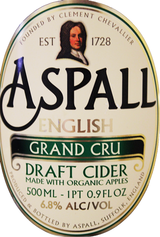 Aspall English Grand Cru Organic Draft Cider