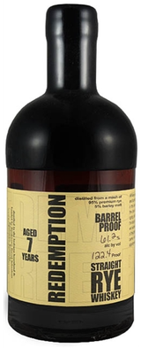 Redemption Barrel Proof Straight Rye Whiskey 7 year old