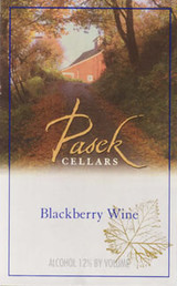 Pasek Cellars Blackberry Wine