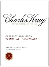 Charles Krug Yountville Napa Valley Cabernet Sauvignon 2012