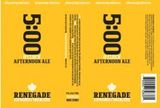 Renegade Brewing Co 5:00 O'Clock Afternoon Ale