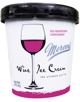 Mercer's Wine Ice Cream Red Raspberry Chardonnay Ice Cream