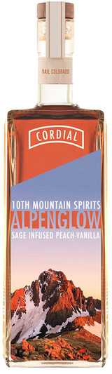 10th Mountain Alpenglow Sage Infused Peach-Vanilla Cordial