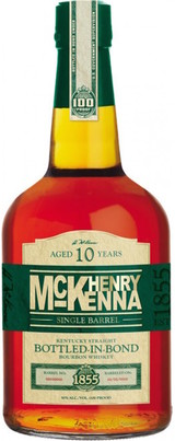 Henry McKenna Single Barrel Kentucky Straight Bourbon Whiskey Bottled in Bond 10 year old