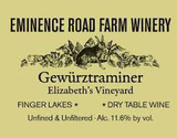 Eminence Road Farm Winery Elizabeth's Vineyard Gewürztraminer 2013