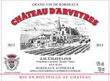 Chateau d'Arveyres Bordeaux Superior Rouge 2013