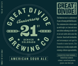 Great Divide 21st Anniversary Sour Ale